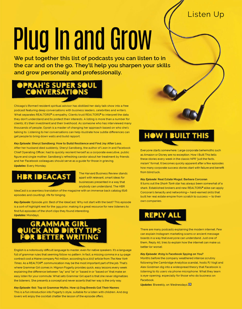 Listen Up: Plug In and Grow   Chicago Association of REALTORS®